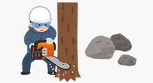 木の伐採・石の撤去
